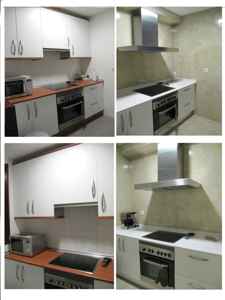 Reformar cocina con Microcemento sin quitar los azulejos