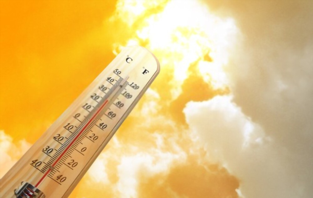 A hot and uncomfortable day during a heat wave