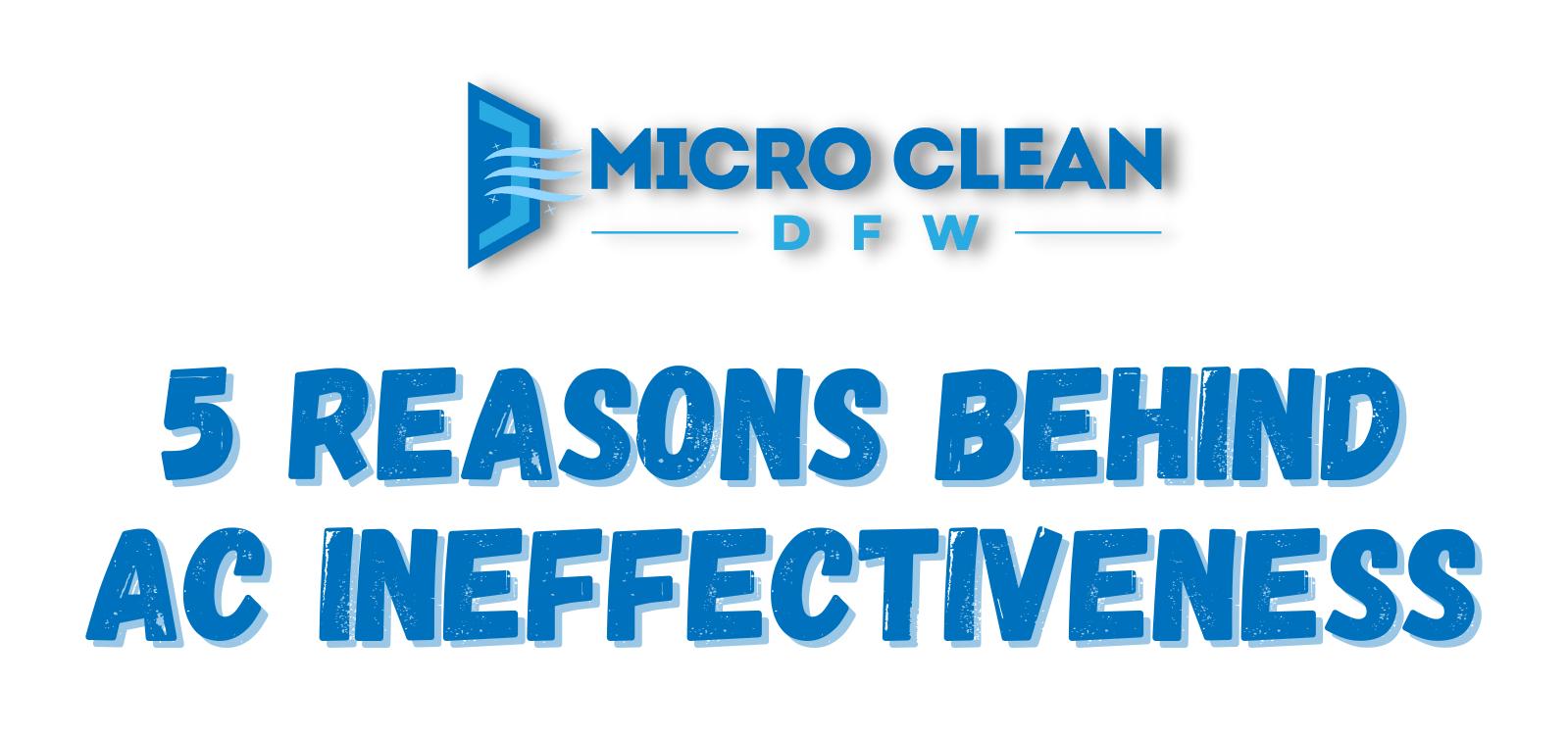 5 Reasons Behind AC Ineffectiveness