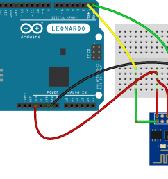 esp8266 attached to an arduino leonardo wi fi esp8266 arduino wiring esp8266 fritzing diagram [ 1287 x 912 Pixel ]