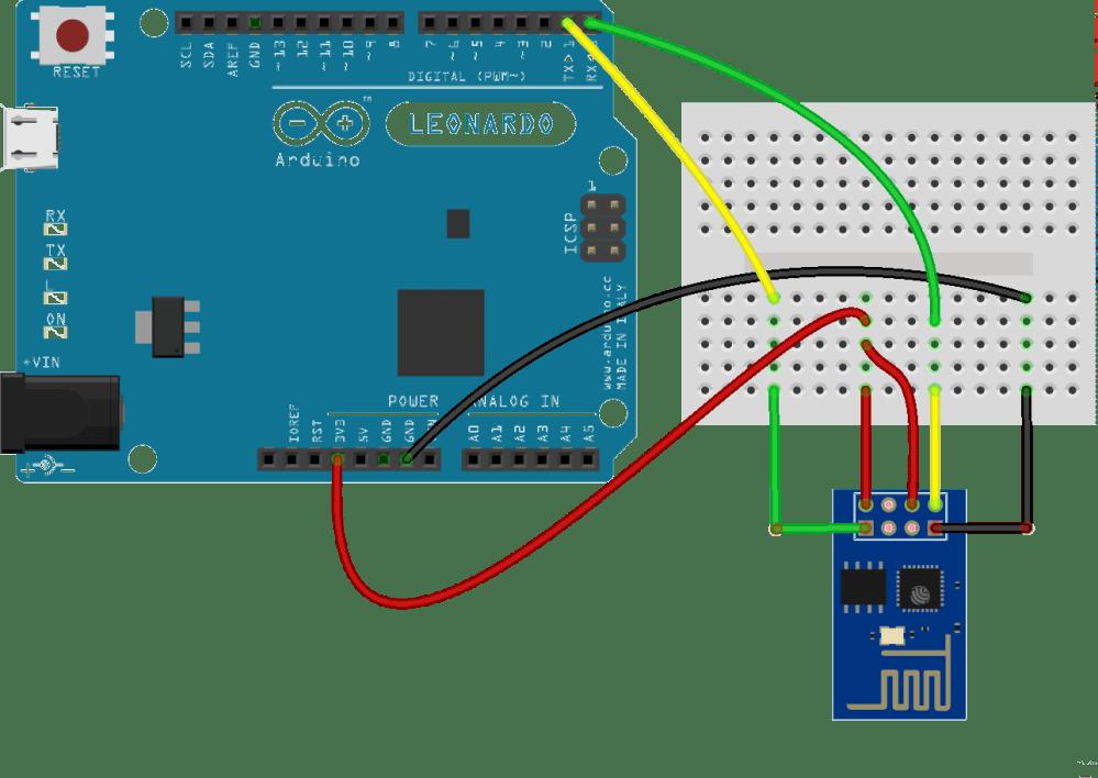 medium resolution of esp8266 attached to an arduino leonardo wi fi esp8266 arduino wiring esp8266 fritzing diagram