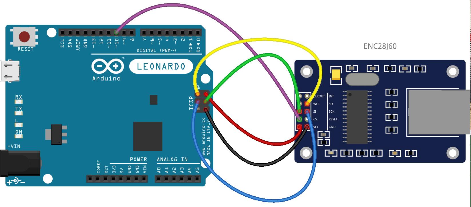 hight resolution of arduino leonardo and spi communications using the enc28j60 ethernet module