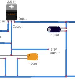 lm317 3 3v circuit diagram [ 1134 x 707 Pixel ]