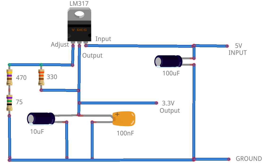hight resolution of lm317 3 3v circuit diagram