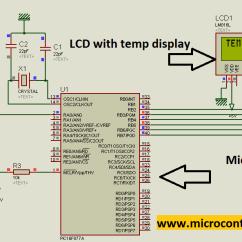 Digital Temperature Controller Circuit Diagram Warn M8000 Control Wiring Sensor All Data Using Pic Microcontroller S13 Wire Of