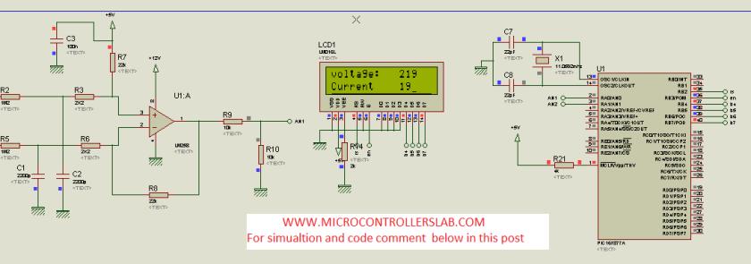 Alternating voltage measurement circuit diagram