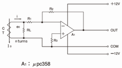 differene amplifier interfacing with current transformer