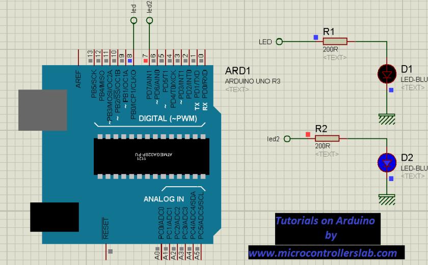 Led blinkin using Arduino UNO R3