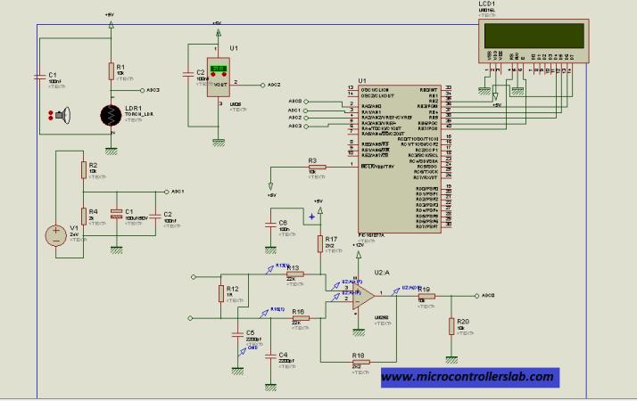 complete circuit diagram of solar panel measurement system
