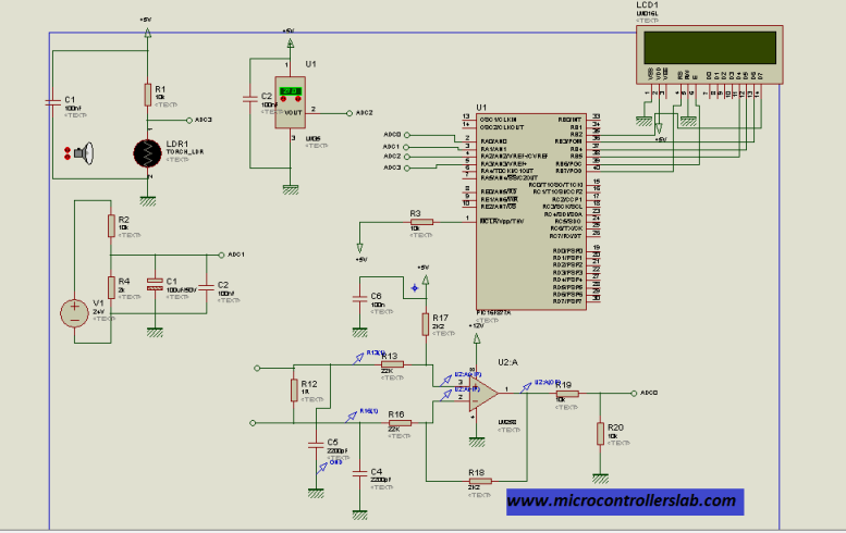 complete circuit diagram of solar panel measurement system
