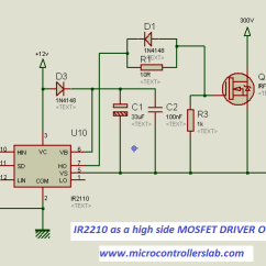 Microcontroller Based Inverter Circuit Diagram 5 Way Round Trailer Wiring How To Use Mosfet Driver 1r2110