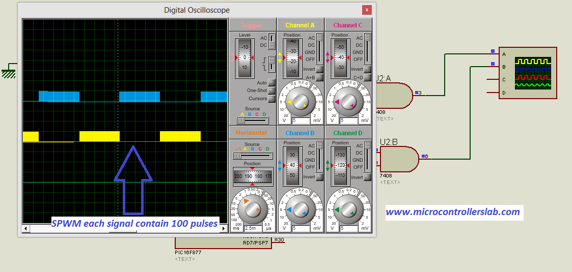 sine wave inverter circuit digram with code