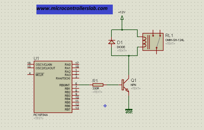 realy interfacing with microcontroller
