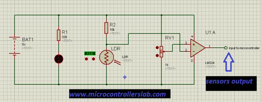 sensor for line follower robot