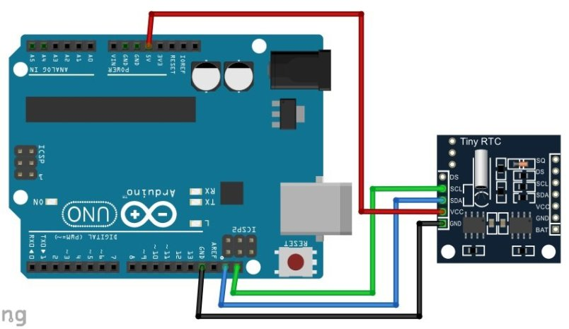 DS1307 RTC Module interfacing with Arduino