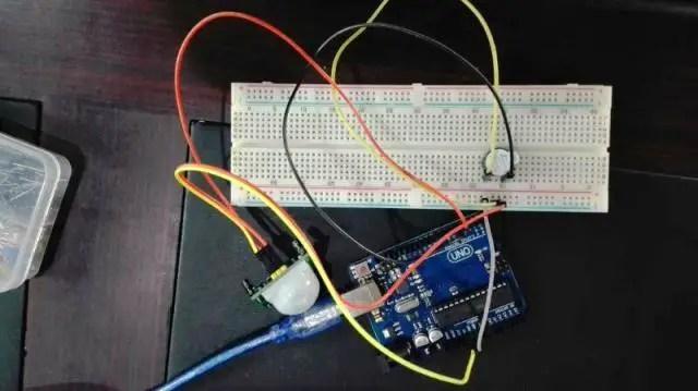 PIR sensor interfacing with Arduino