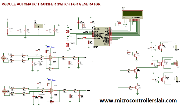 circuit diagram of automatic tranfer switch