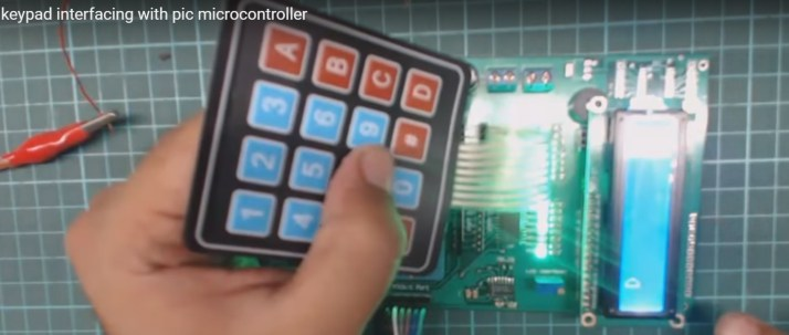 Keypad interfacing with PIC16F877A microcontroller