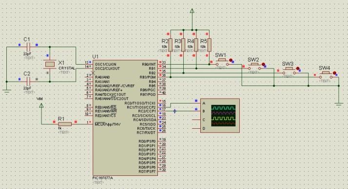 PWM using pic16f877a microcontroller