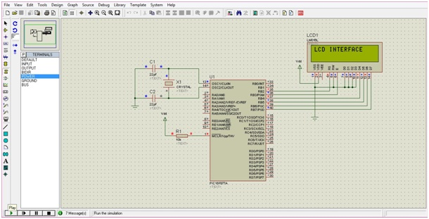 LCD INTERFACING WITH PIC16F877A MICROCONTROLLER