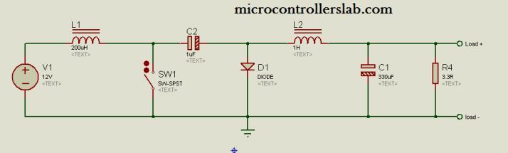 cuk conveter circuit diagran