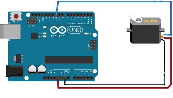 servo motor interfacing with Arduino Uno R3