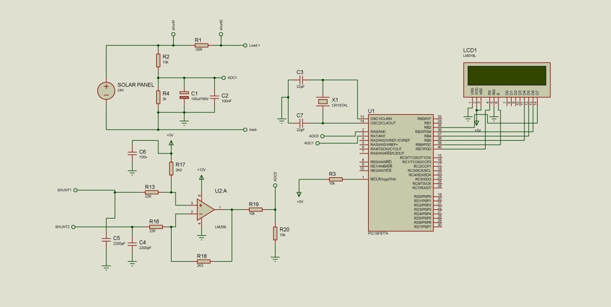 Solar energy measurement system using pic microcontroller