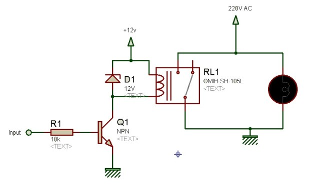 relay driver cricuit using transistor