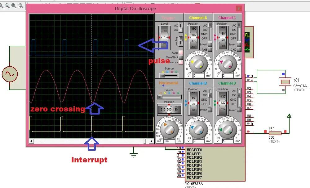 zero crossing detector circuit using pic microcontroller