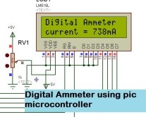 Digital Ammeter with lcd display using pic microcontroller