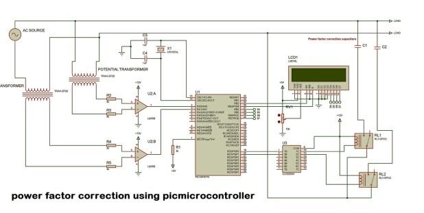 power factor controller circuit diagram using pic microcontroller