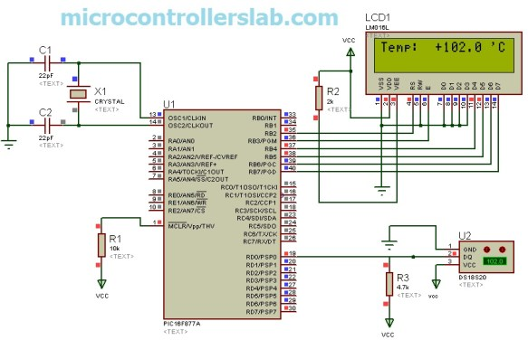 DS18S20 interfacing with pic microcontroller