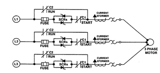 soft starter types working and circuit using microcontroller solid state soft starter