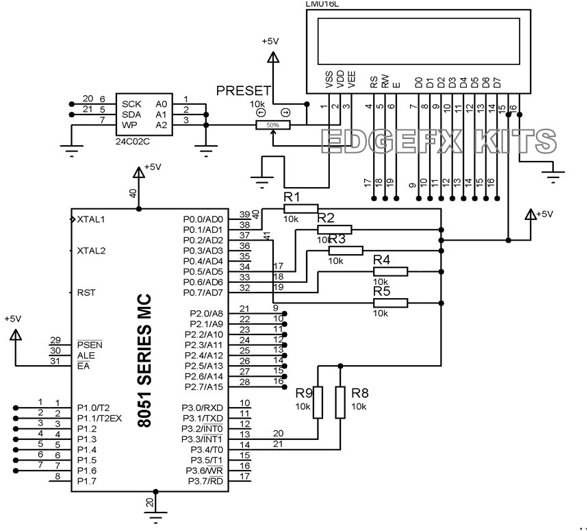 EEPROM interfacing with microcontroller
