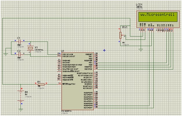 scrolling text on lcd using pic microcontroller