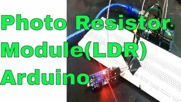photo resistor module interfacing with Arduino