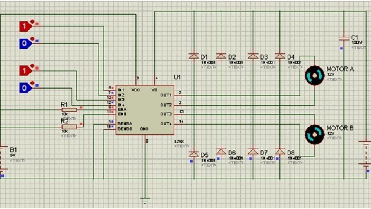 L298N motor driver IC pinout, features, applications and Example on