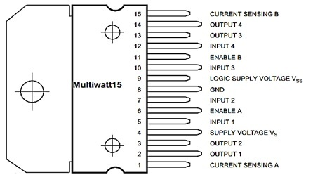 L298N motor driver IC pinout, features, applications and ...