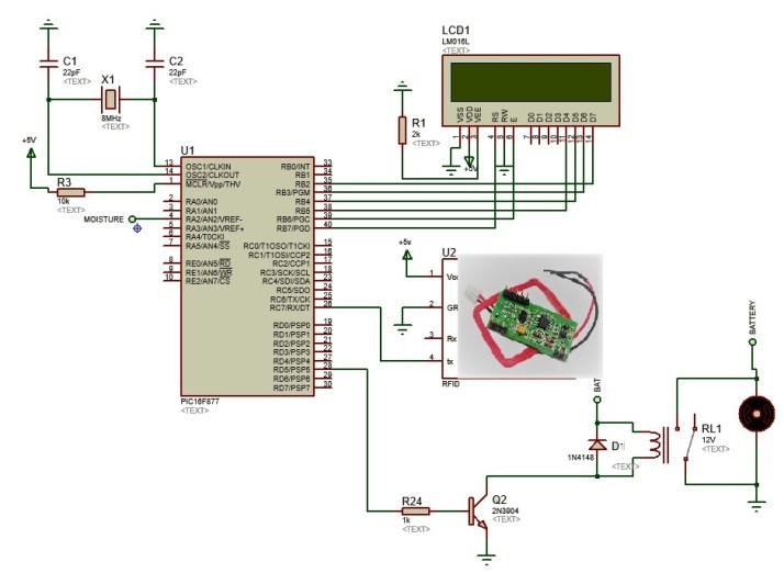 Rfid Based Electronic Lock Using Pic Microcontroller With Code