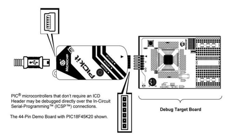 How to Use PICKit3 to upload program to pic microcontroller Icsp Pickit Schematic Diagram on