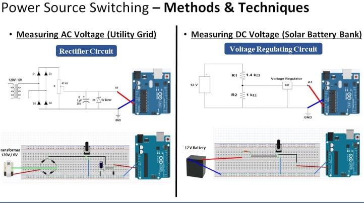 Automatic power source selector circuit diagram