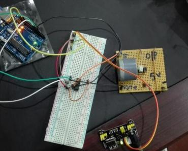 dc motor speed control with Labview and Arduino