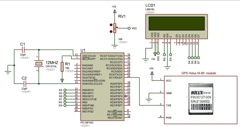 GPS based clock using pic microcontroller