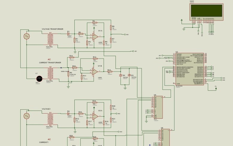 three phase power meter using pic microcontroller
