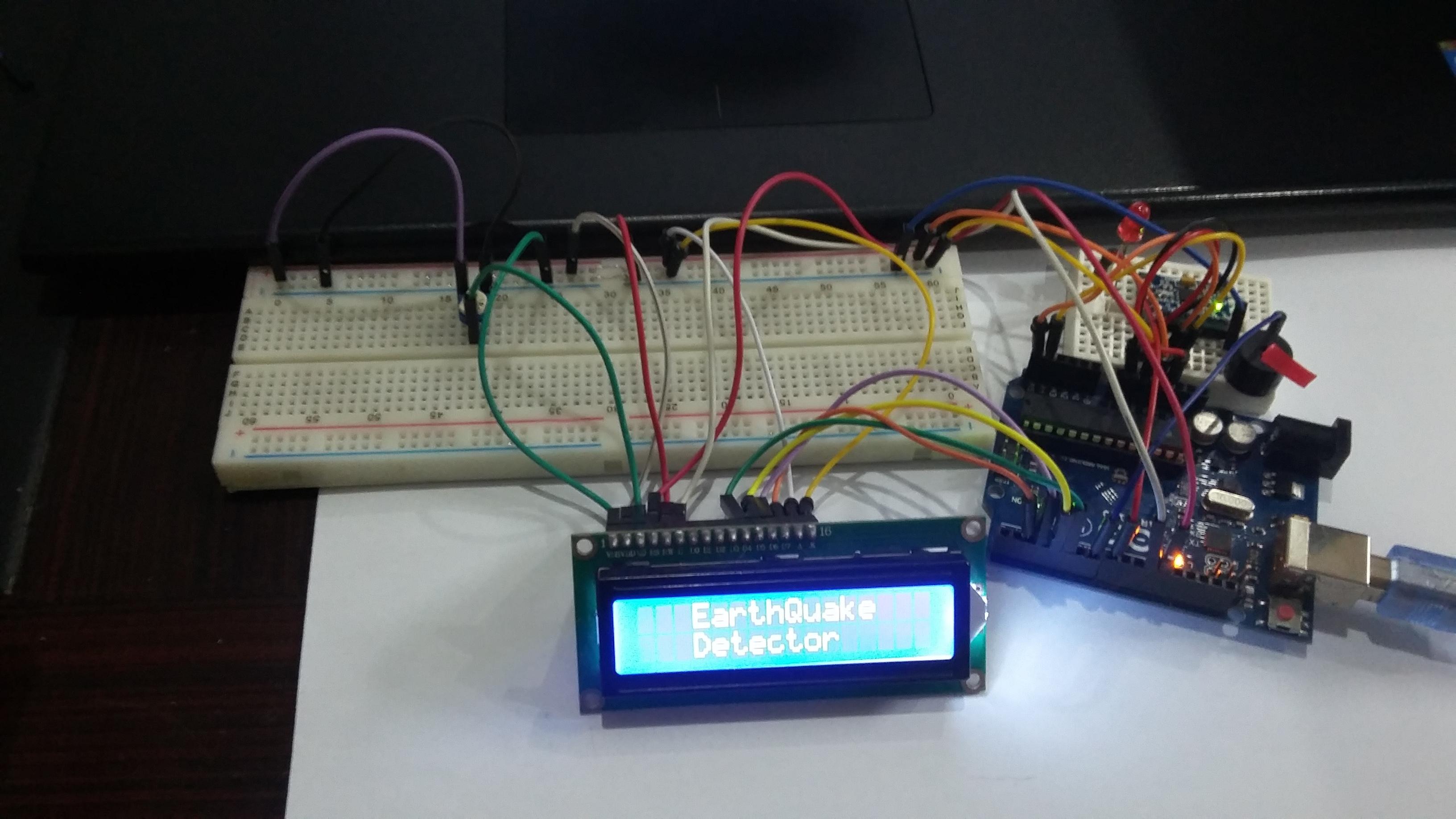 Earthquake Detector using Arduino and MPU-6050