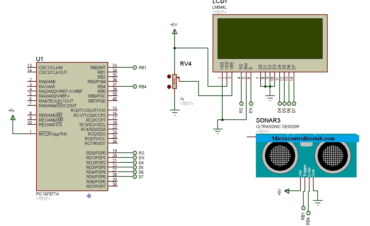 Ultrasonic sensor interfacing with pic microcontroller : distance
