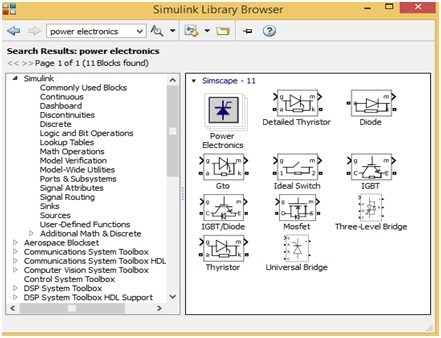 Forward Converter Design components in simulink