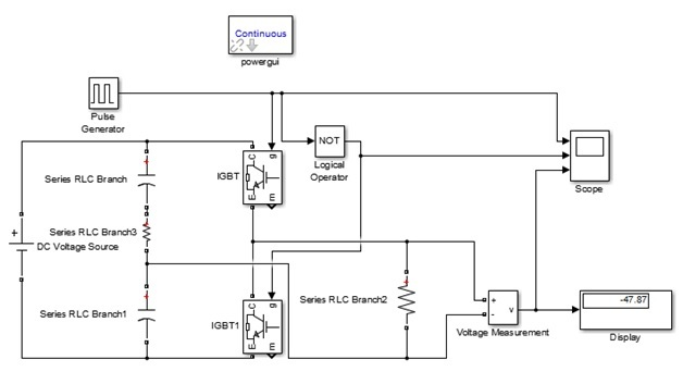 Single Phase Voltage Source inverter simulation in Simulink