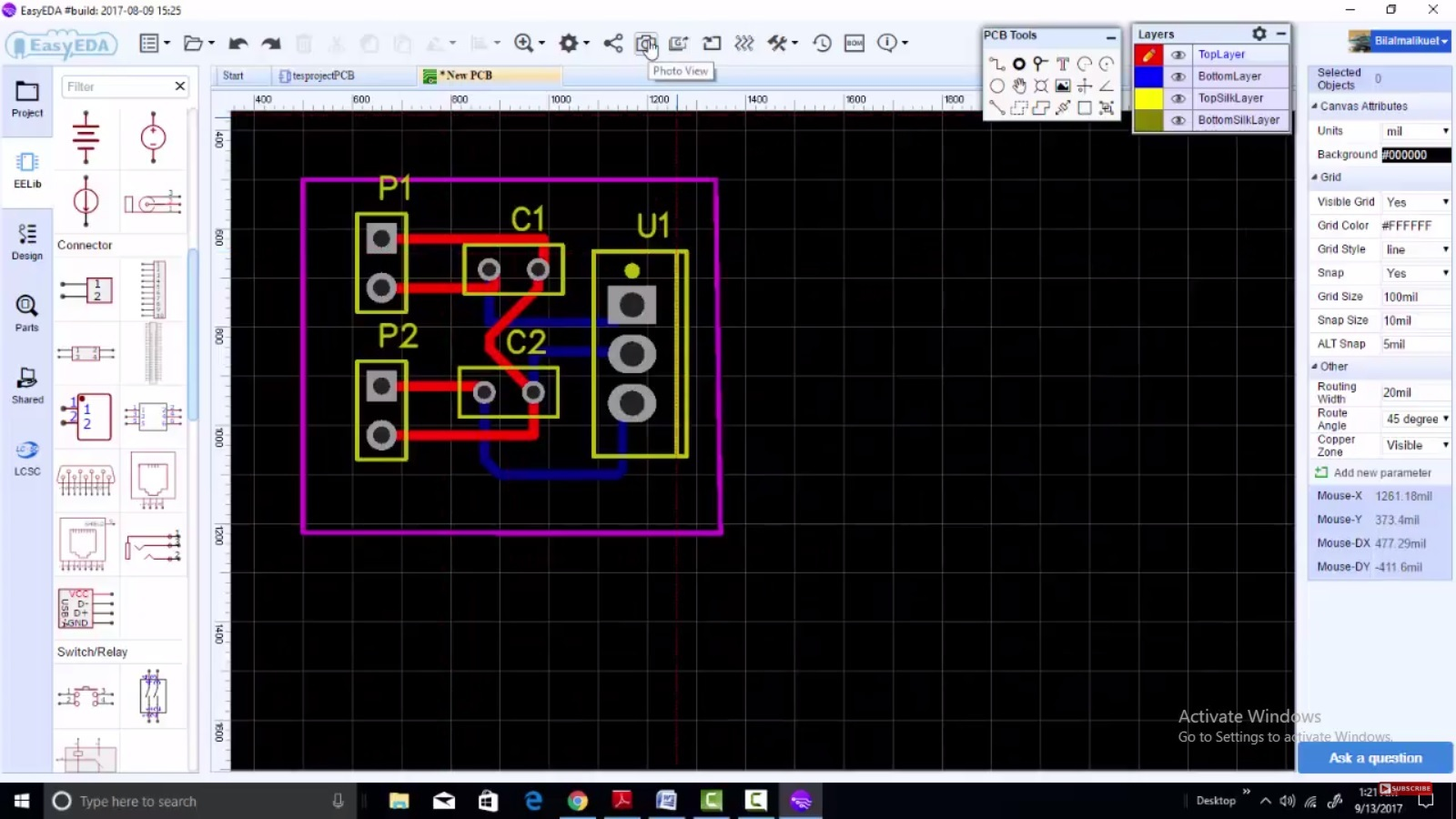 EasyEDA new desktop software for PCB and schematic design