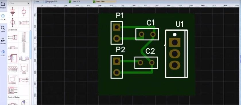 PCB design easyEDA view2